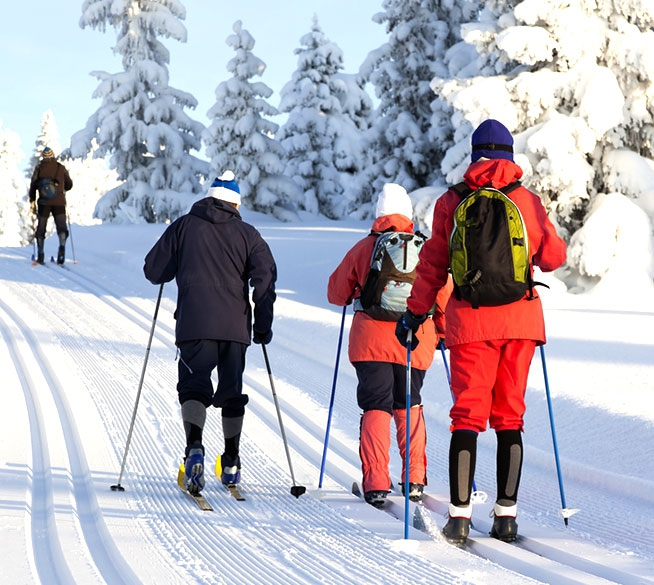 At the heart of the downhill and cross-country skiing areas